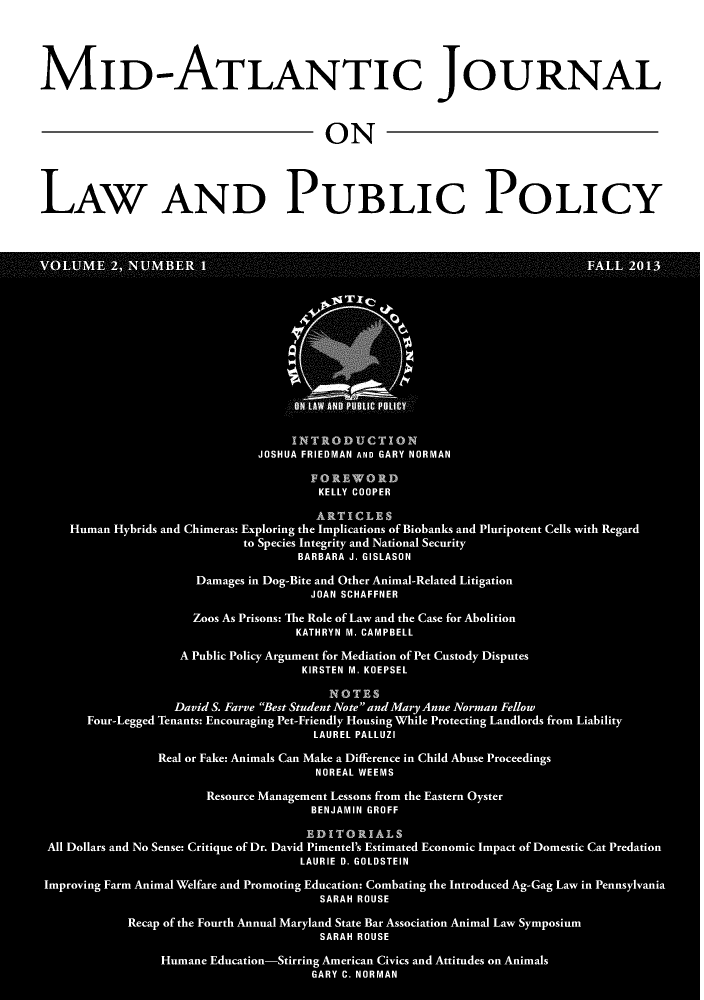 handle is hein.journals/midatlapp2 and id is 1 raw text is: MID-ATLANTIC JOURNAL