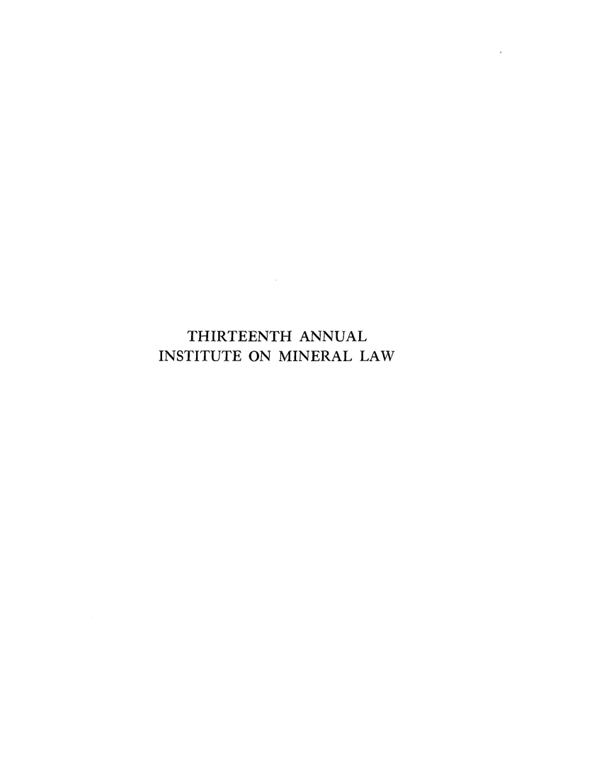 handle is hein.journals/mineral13 and id is 1 raw text is: THIRTEENTH ANNUAL