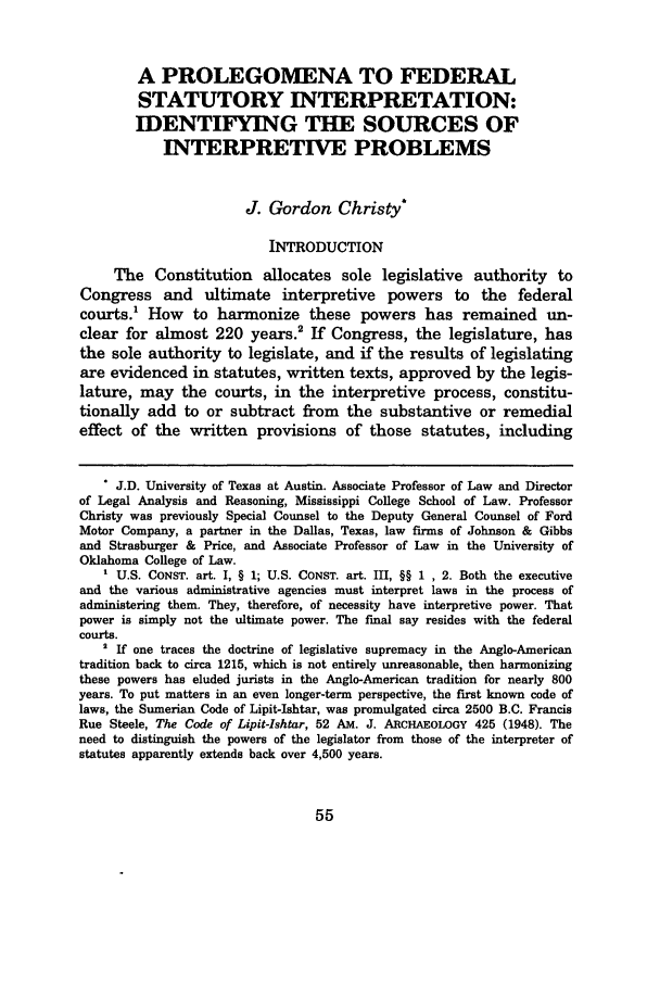 handle is hein.journals/mislj76 and id is 65 raw text is: A PROLEGOMENA TO FEDERAL