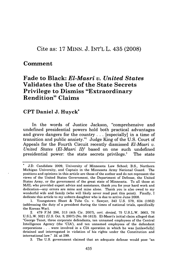 handle is hein.journals/mjgt17 and id is 439 raw text is: Cite as: 17 MINN. J. INT'L L. 435 (2008)
