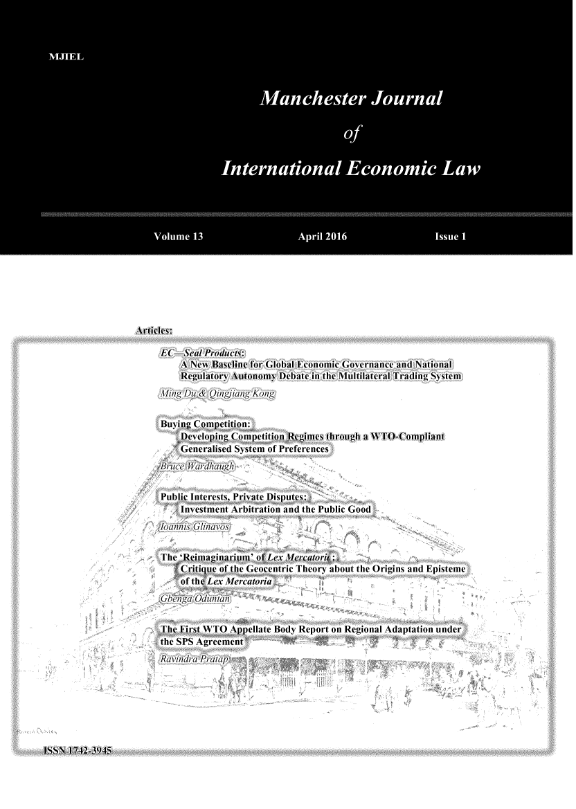handle is hein.journals/mjiel13 and id is 1 raw text is: 
