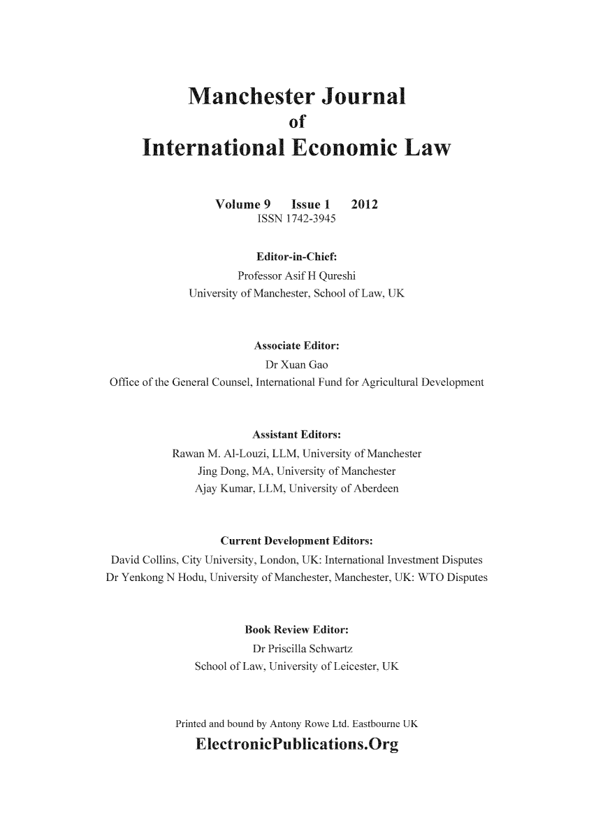 handle is hein.journals/mjiel9 and id is 1 raw text is: Manchester Journal