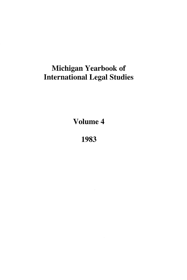 handle is hein.journals/mjil4 and id is 1 raw text is: Michigan Yearbook of