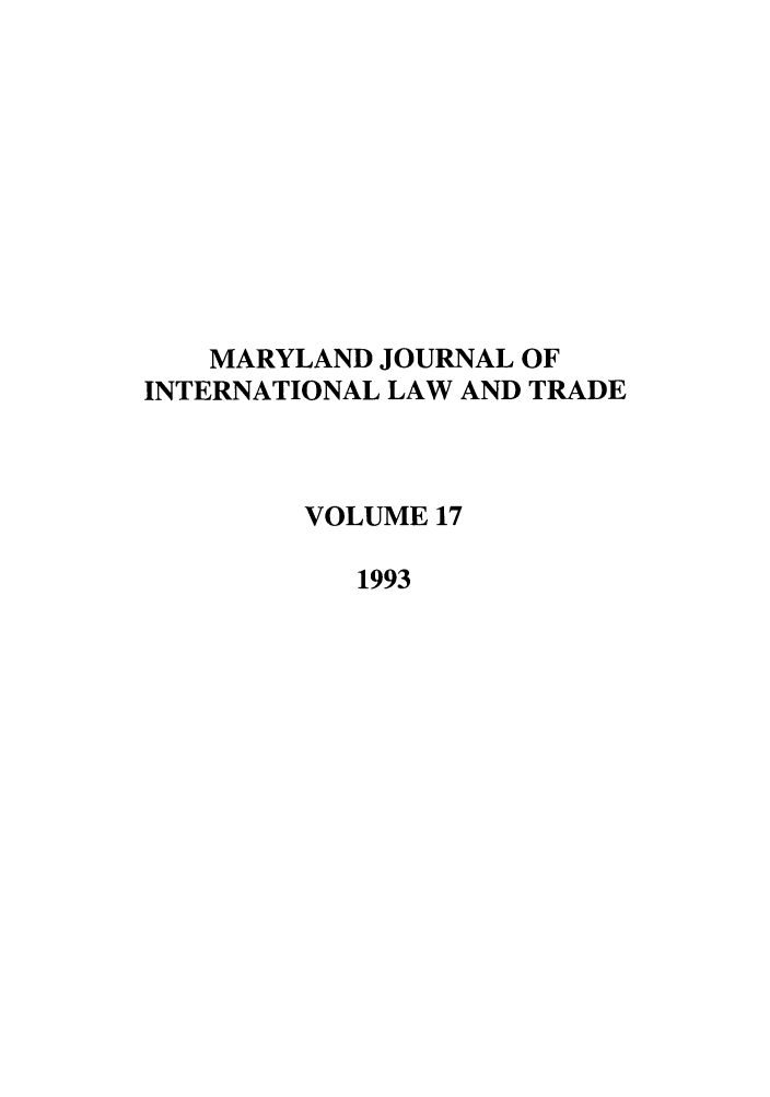 handle is hein.journals/mljilt17 and id is 1 raw text is: MARYLAND JOURNAL OF