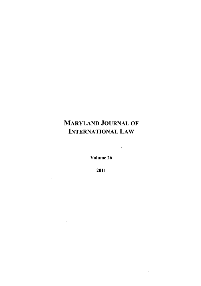 handle is hein.journals/mljilt26 and id is 1 raw text is: MARYLAND JOURNAL OF