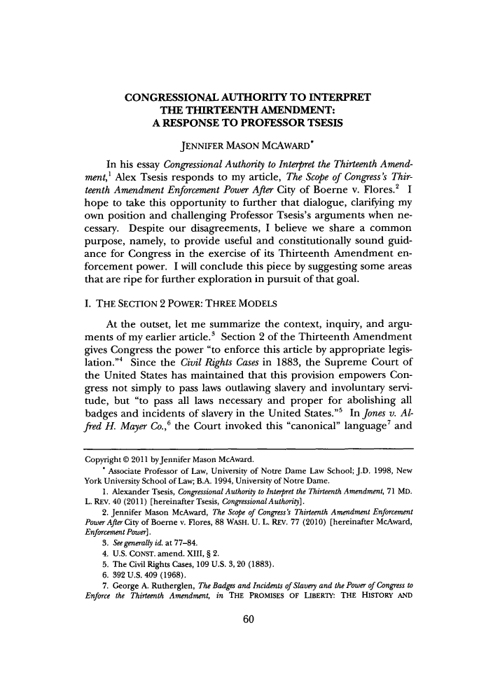 handle is hein.journals/mllr71 and id is 62 raw text is: CONGRESSIONAL AUTHORITY TO INTERPRET