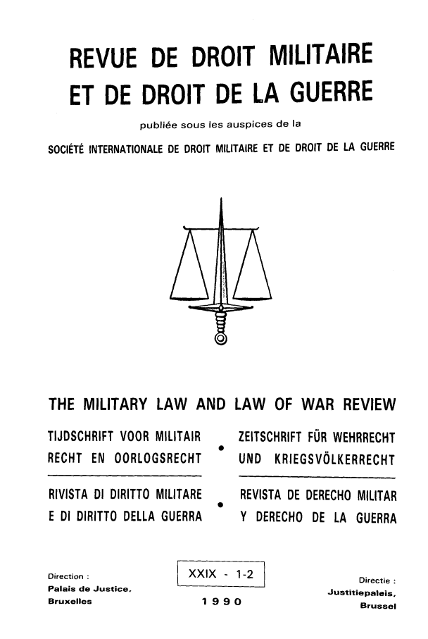 handle is hein.journals/mllwr29 and id is 1 raw text is: REVUE DE DROIT MILITAIRE