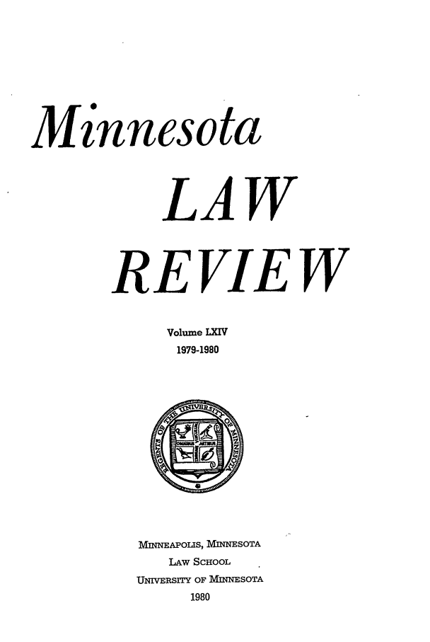 handle is hein.journals/mnlr64 and id is 1 raw text is: - 0