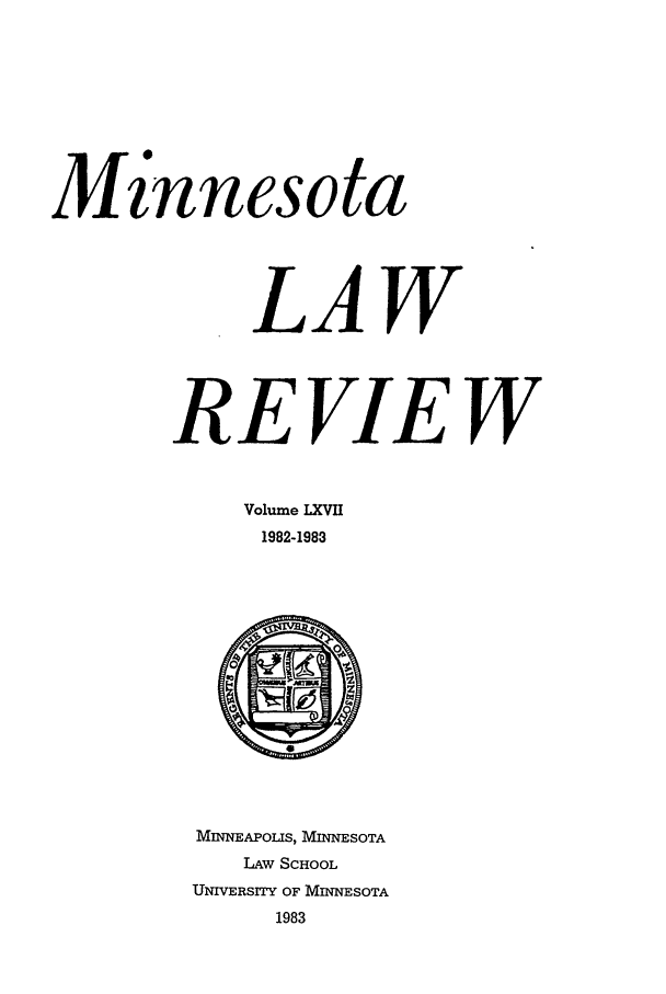 handle is hein.journals/mnlr67 and id is 1 raw text is: M is