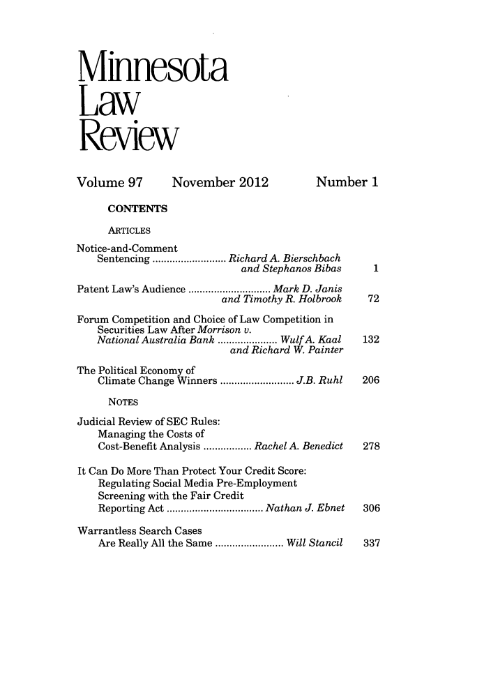 handle is hein.journals/mnlr97 and id is 1 raw text is: Minnesota