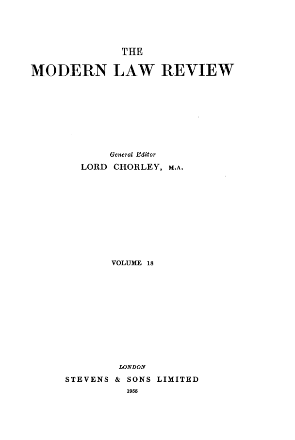 handle is hein.journals/modlr18 and id is 1 raw text is: THE
