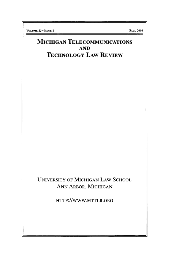 handle is hein.journals/mttlr23 and id is 1 raw text is: 