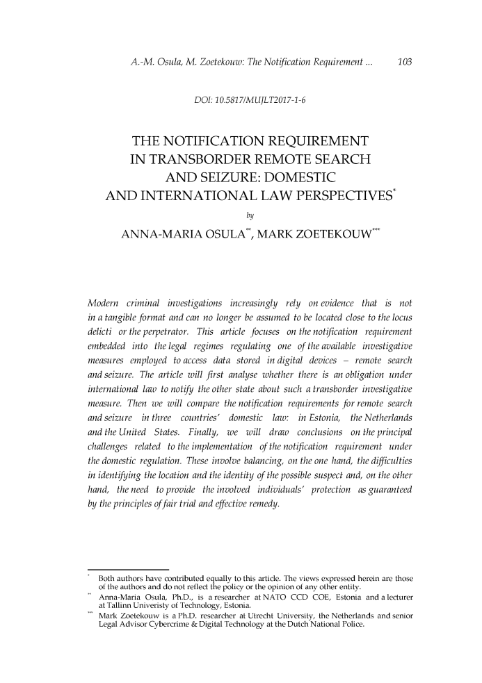 handle is hein.journals/mujlt11 and id is 103 raw text is: 