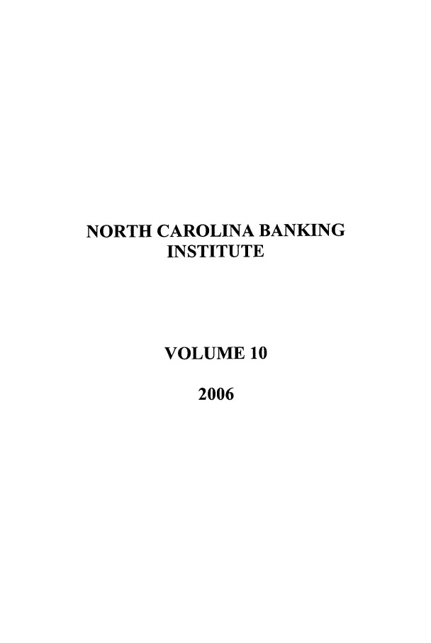 handle is hein.journals/ncbj10 and id is 1 raw text is: NORTH CAROLINA BANKING