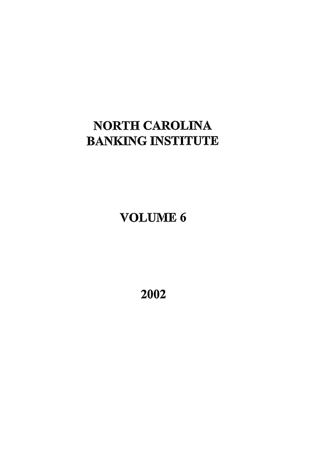 handle is hein.journals/ncbj6 and id is 1 raw text is: NORTH CAROLINA