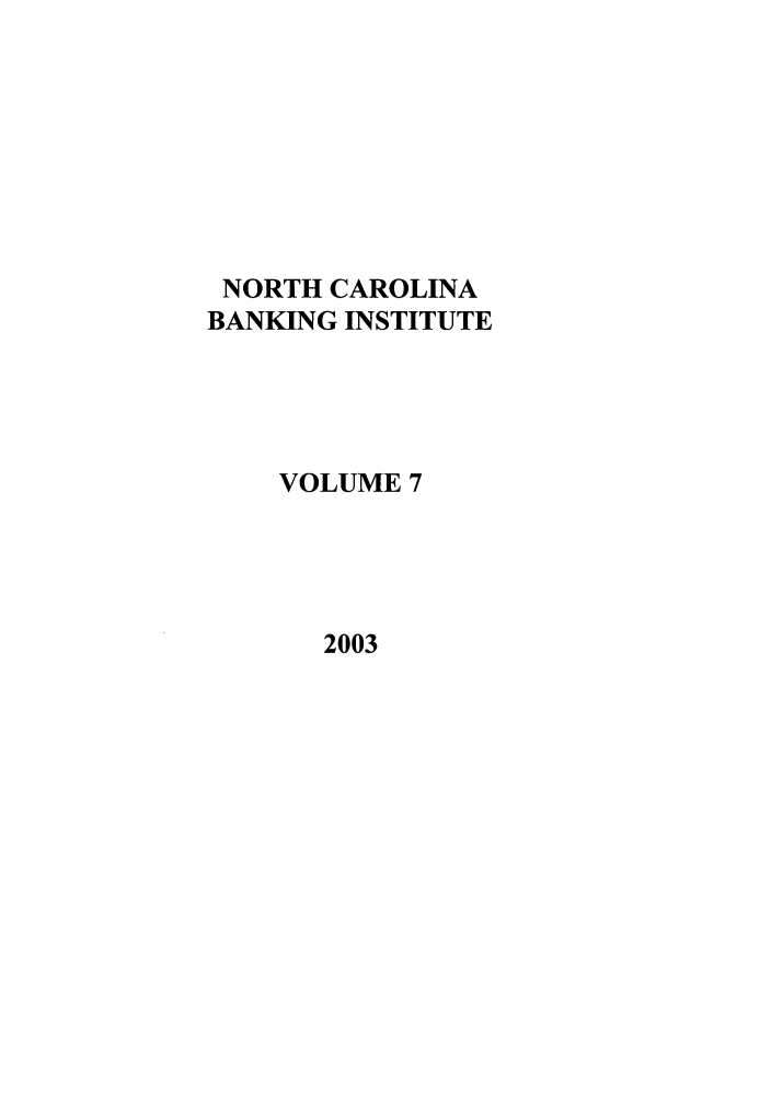 handle is hein.journals/ncbj7 and id is 1 raw text is: NORTH CAROLINA