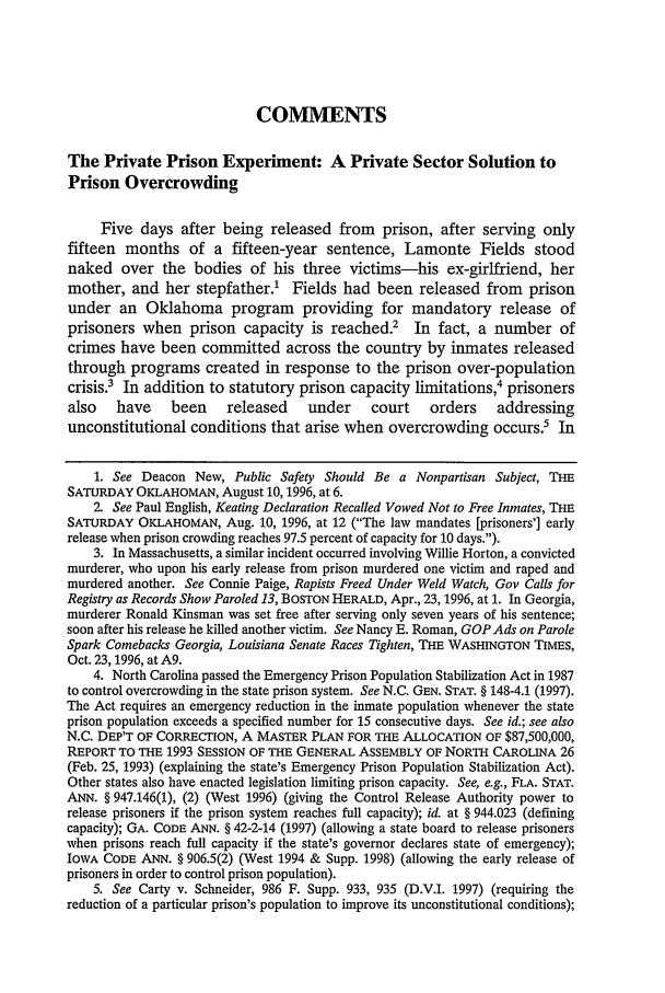 The Private Prison Experiment A Private Sector Solution -8716
