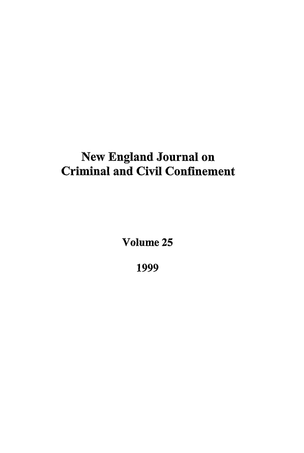 handle is hein.journals/nejccc25 and id is 1 raw text is: New England Journal on