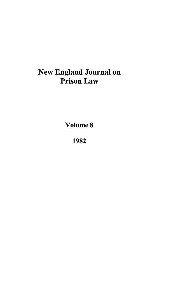 handle is hein.journals/nejccc8 and id is 1 raw text is: New England Journal on