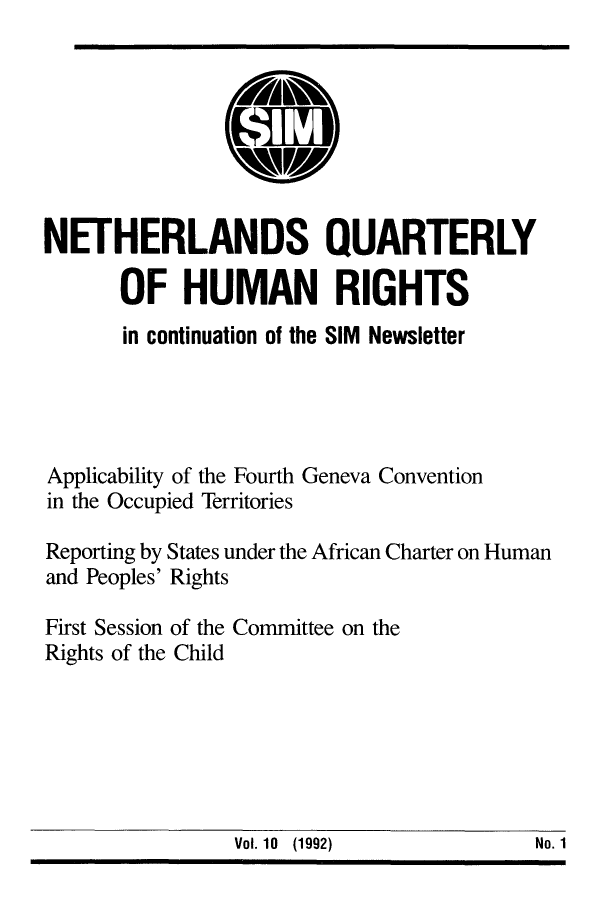 handle is hein.journals/nethqur25 and id is 1 raw text is: NETHERLANDS QUARTERLY