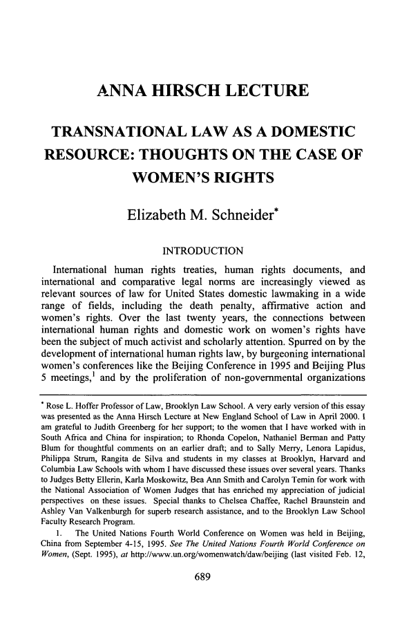 handle is hein.journals/newlr38 and id is 711 raw text is: ANNA HIRSCH LECTURE