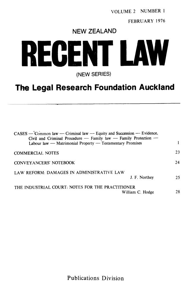 handle is hein.journals/newzlndrl2 and id is 1 raw text is: 