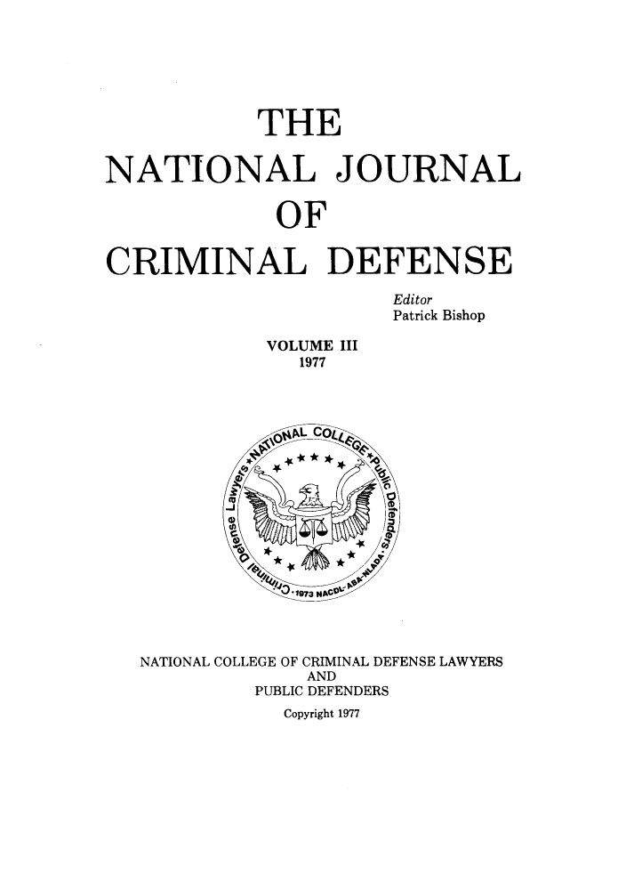 handle is hein.journals/njcdnse3 and id is 1 raw text is: THE