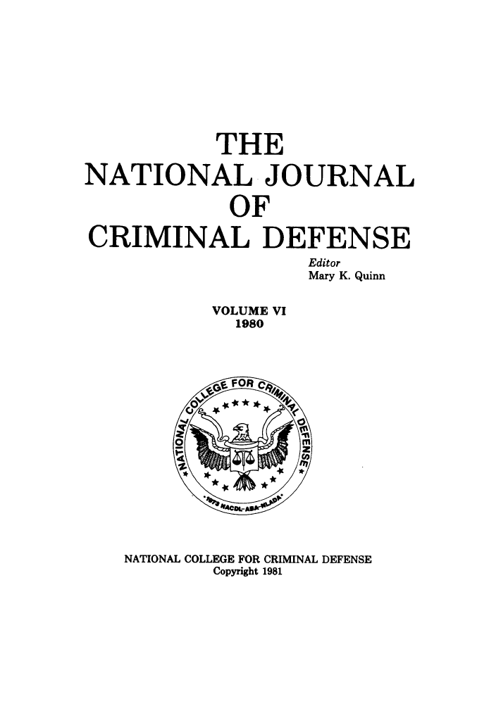 handle is hein.journals/njcdnse6 and id is 1 raw text is: THE