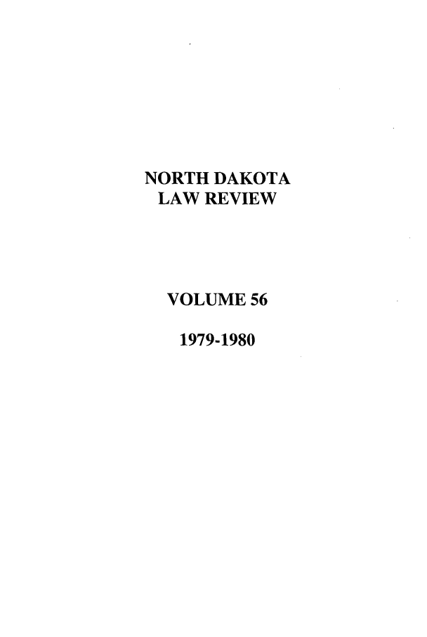 handle is hein.journals/nordak56 and id is 1 raw text is: NORTH DAKOTA