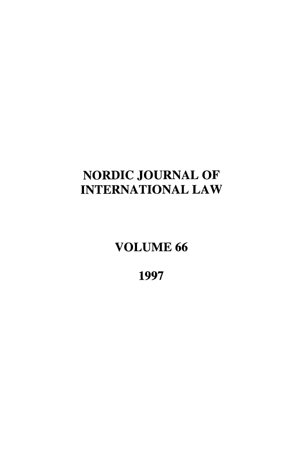 handle is hein.journals/nordic66 and id is 1 raw text is: NORDIC JOURNAL OF