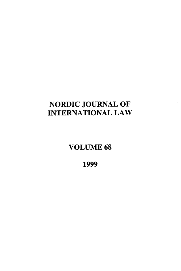 handle is hein.journals/nordic68 and id is 1 raw text is: NORDIC JOURNAL OF