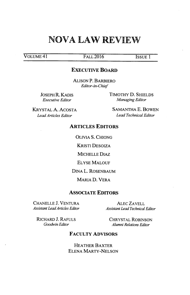 handle is hein.journals/novalr41 and id is 1 raw text is: 