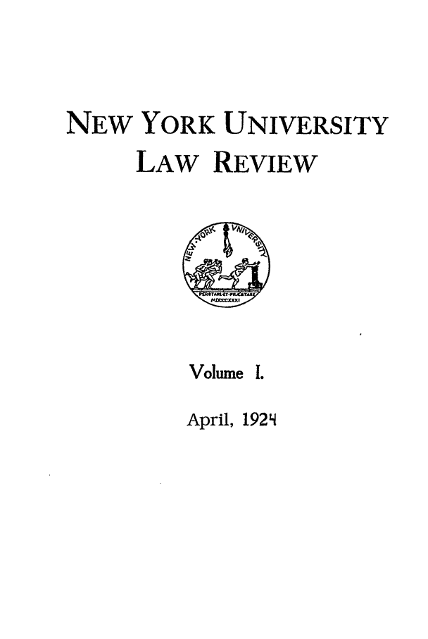 handle is hein.journals/nylr1 and id is 1 raw text is: NEW YORK UNIVERSITY