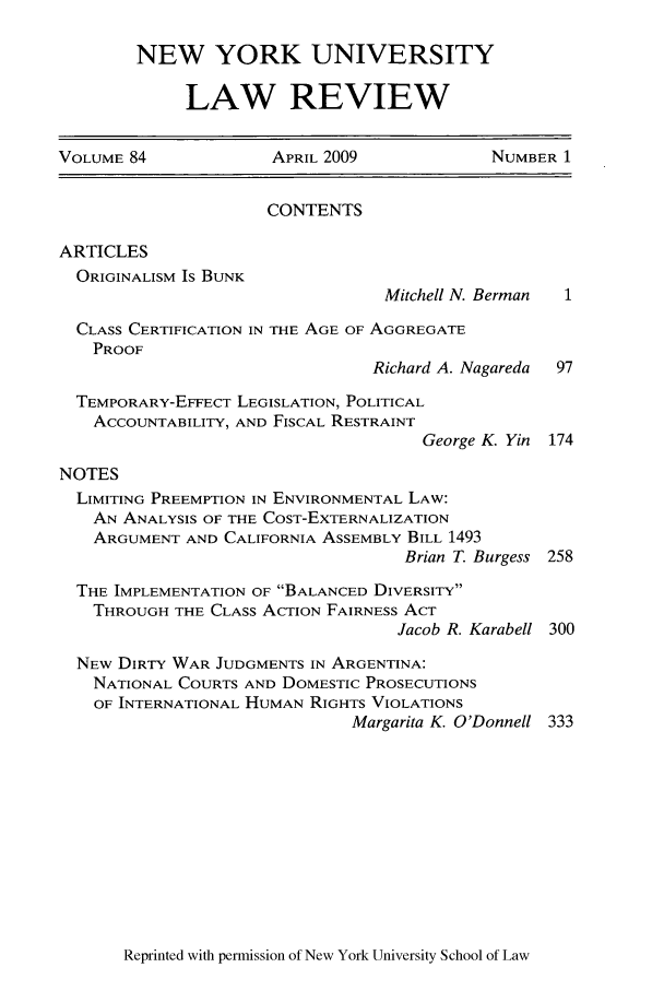 handle is hein.journals/nylr84 and id is 1 raw text is: NEW YORK UNIVERSITY