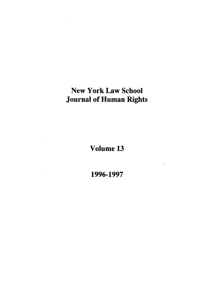 handle is hein.journals/nylshr13 and id is 1 raw text is: New York Law School
