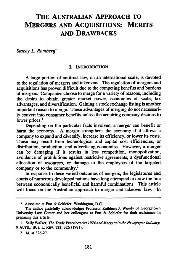 handle is hein.journals/nylsintcom13 and id is 187 raw text is: THE AUSTRALIAN APPROACH TO