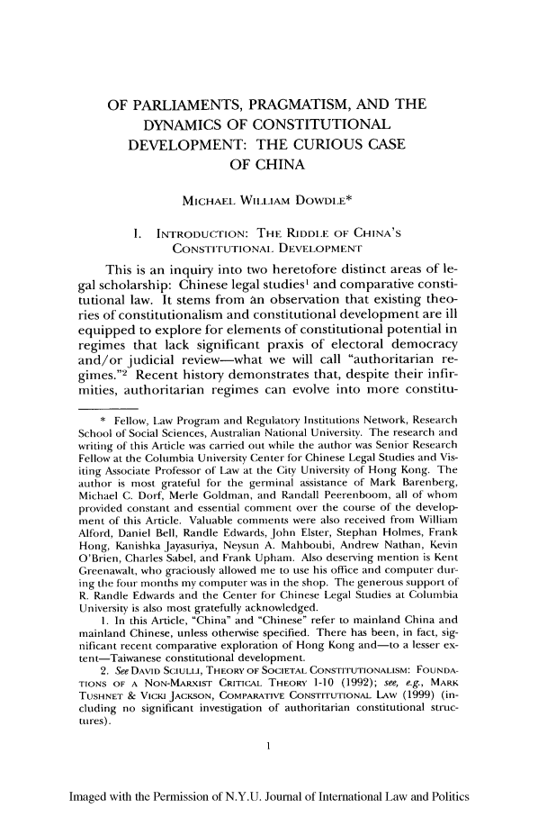 handle is hein.journals/nyuilp35 and id is 11 raw text is: OF PARLIAMENTS, PRAGMATISM, AND THE
