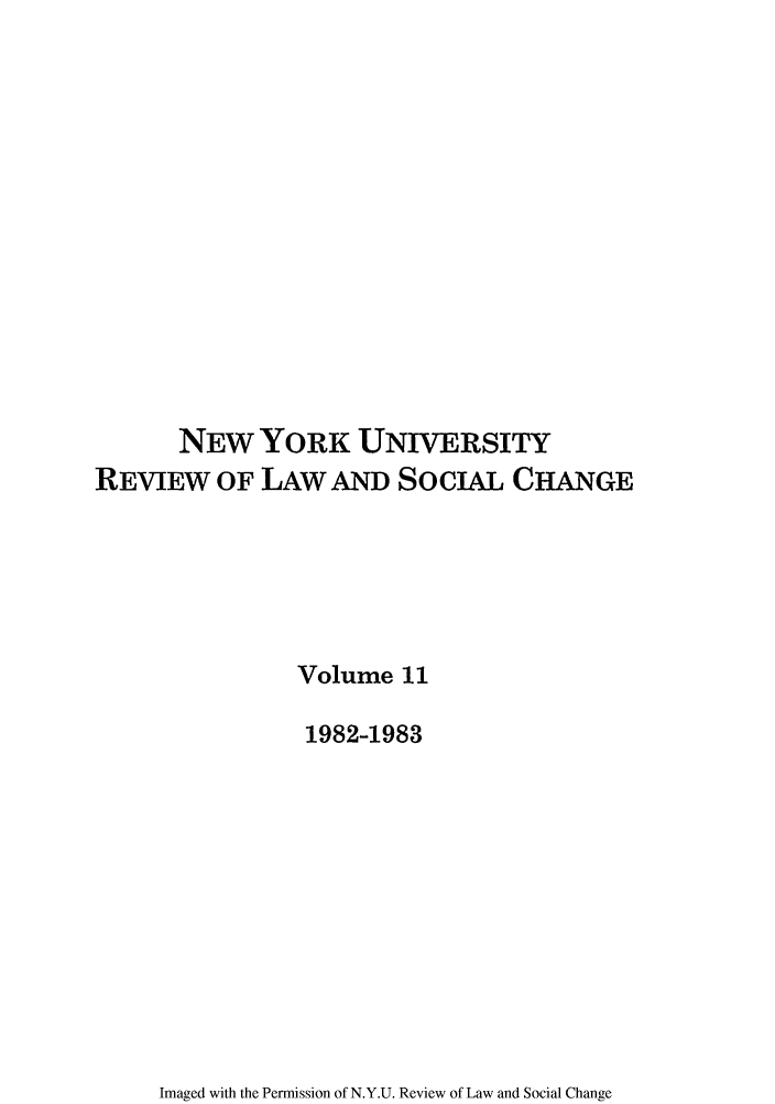 handle is hein.journals/nyuls11 and id is 1 raw text is: NEW YORK UNIVERSITY