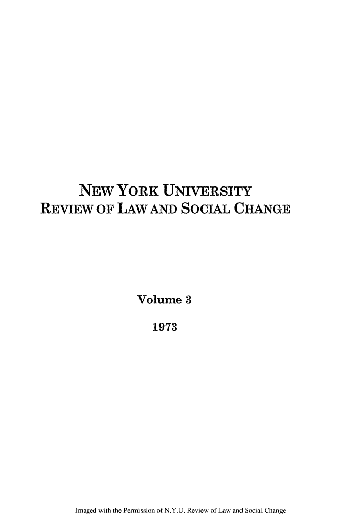 handle is hein.journals/nyuls3 and id is 1 raw text is: NEW YORK UNIVERSITY