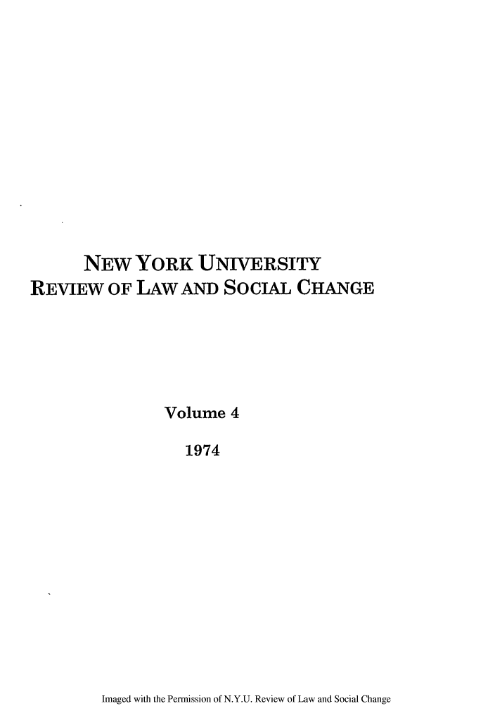 handle is hein.journals/nyuls4 and id is 1 raw text is: NEW YORK UNIVERSITY