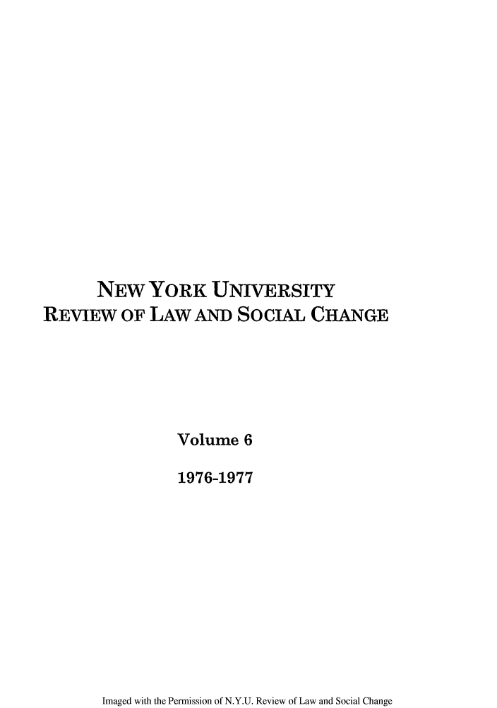 handle is hein.journals/nyuls6 and id is 1 raw text is: NEW YORK UNIVERSITY