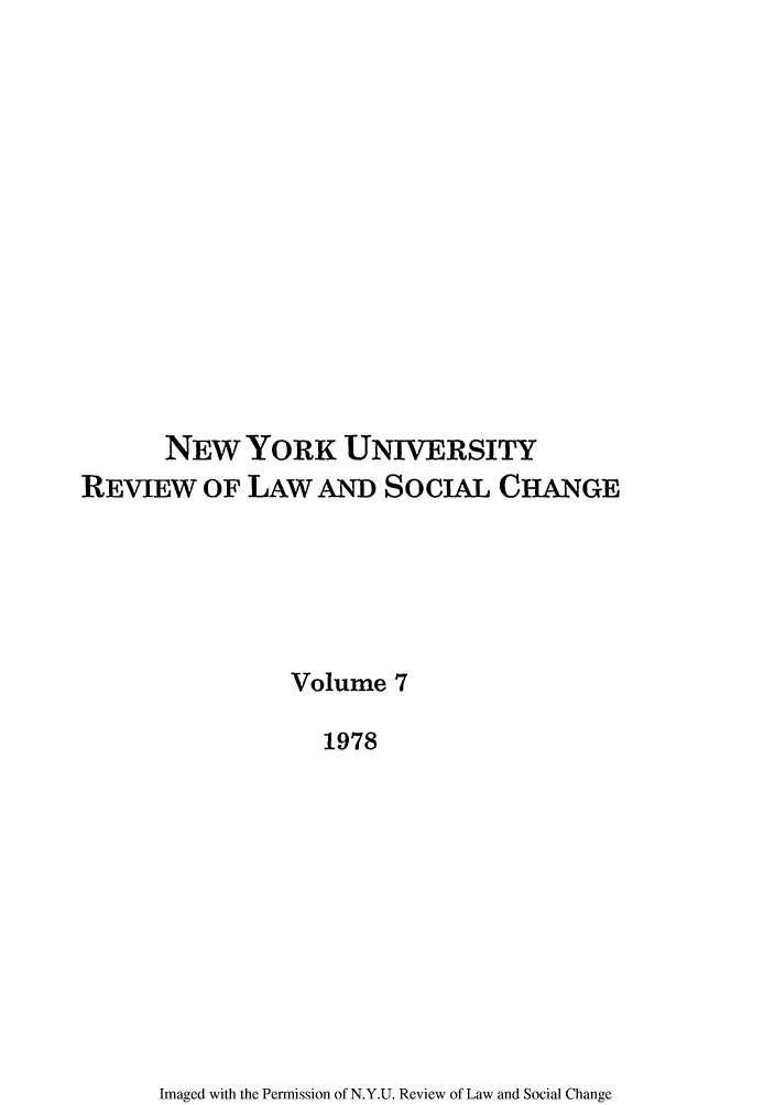 handle is hein.journals/nyuls7 and id is 1 raw text is: NEW YORK UNIVERSITY