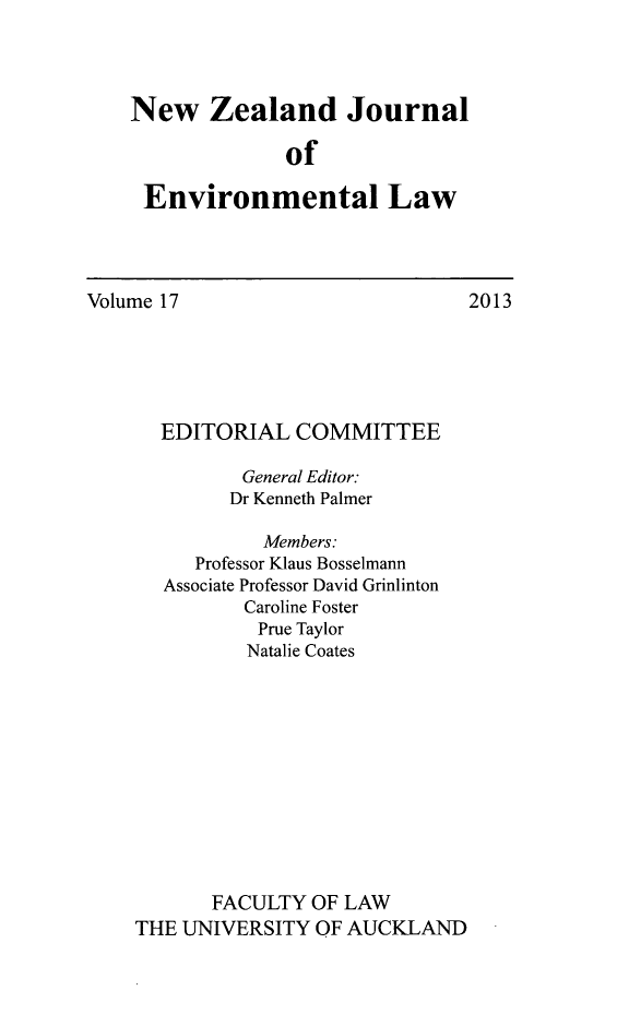 handle is hein.journals/nzjel17 and id is 1 raw text is: New Zealand Journal