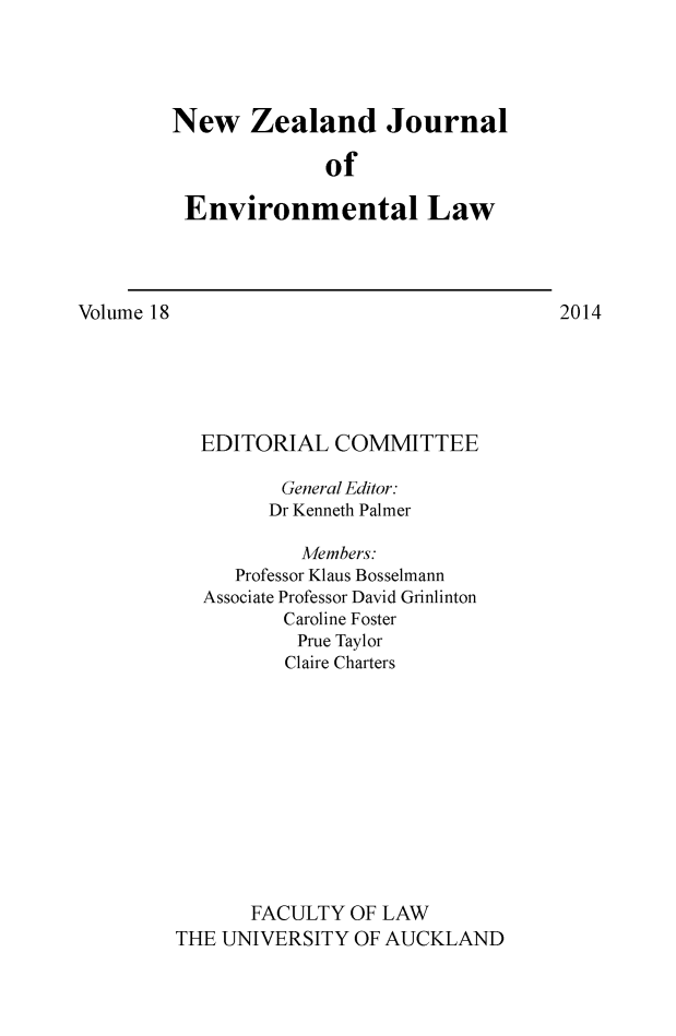 handle is hein.journals/nzjel18 and id is 1 raw text is: 