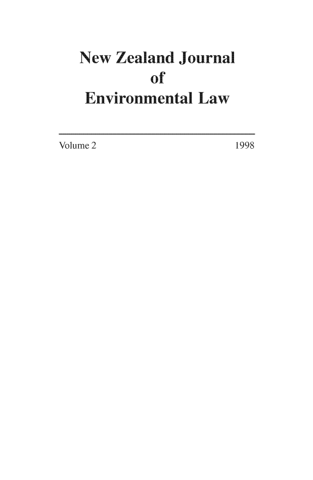 handle is hein.journals/nzjel2 and id is 1 raw text is: New Zealand Journal