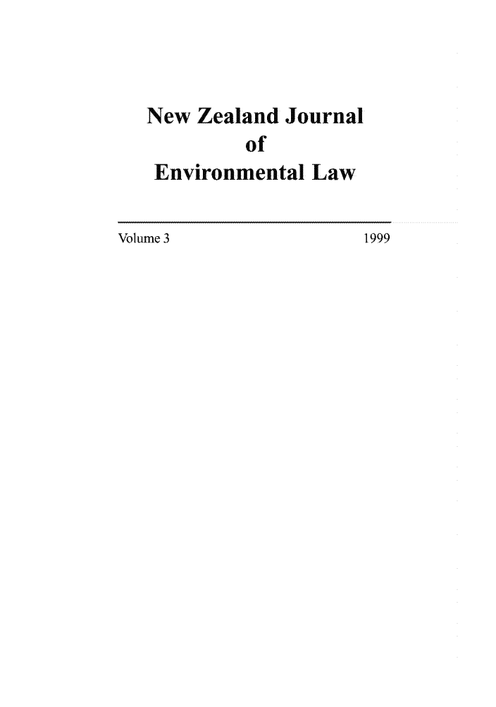handle is hein.journals/nzjel3 and id is 1 raw text is: New Zealand Journal