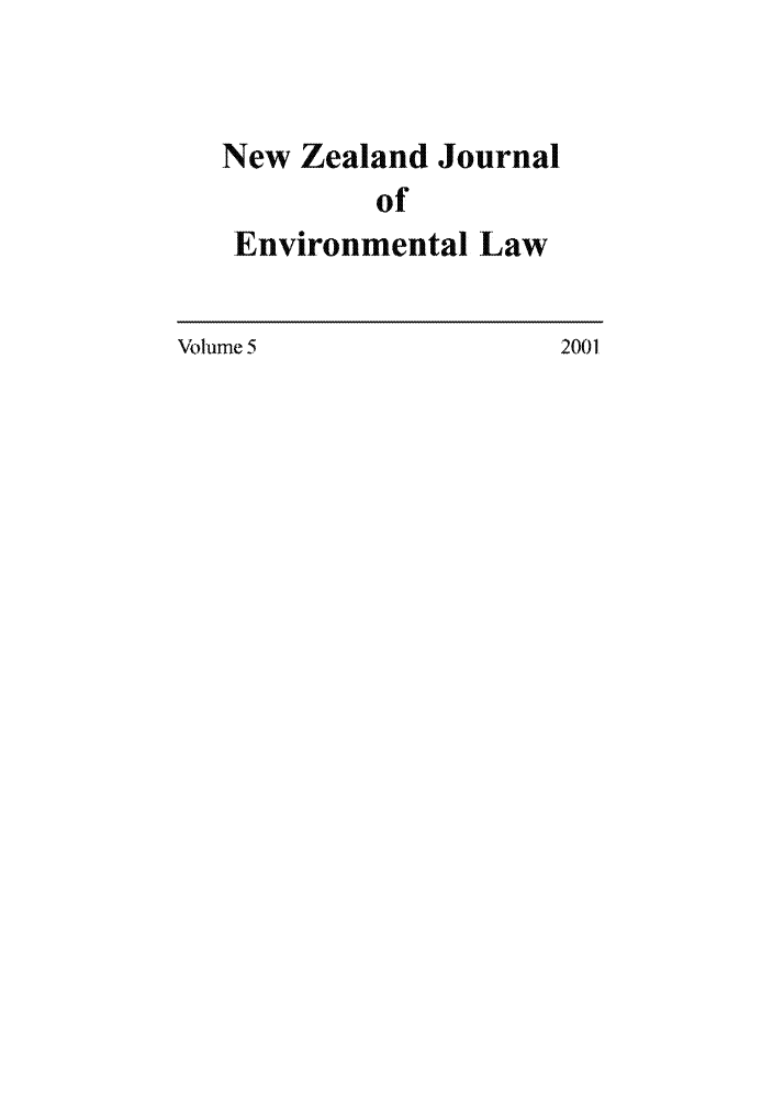 handle is hein.journals/nzjel5 and id is 1 raw text is: New Zealand Journal