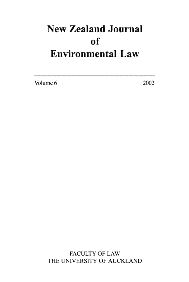 handle is hein.journals/nzjel6 and id is 1 raw text is: New Zealand Journal