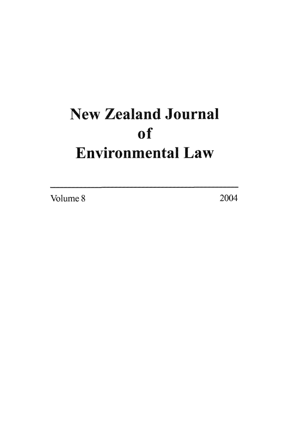 handle is hein.journals/nzjel8 and id is 1 raw text is: New Zealand Journal