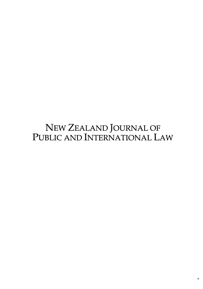 handle is hein.journals/nzjpubinl3 and id is 1 raw text is: NEW ZEALAND JOURNAL OF